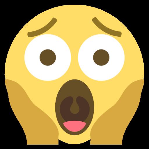 Face Screaming In Fear Emoji Emoticon Vector Icon Free Download