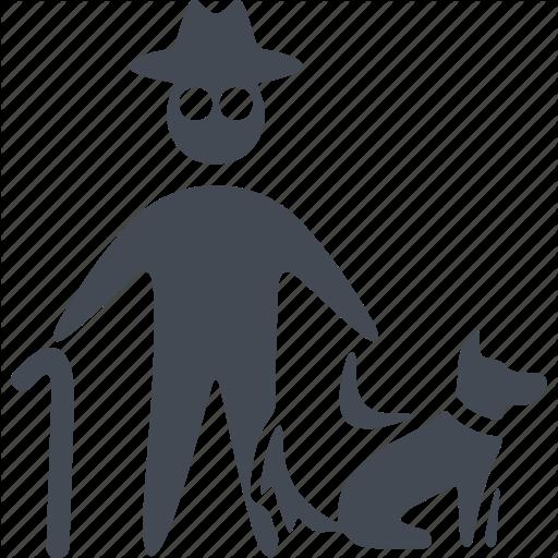 Animal, Dog, Man With A Dog, Pets Icon
