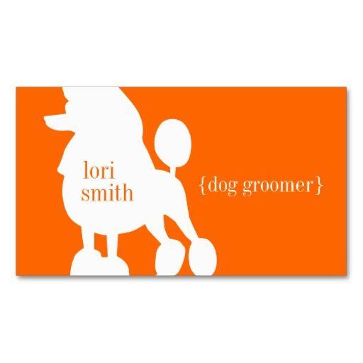 Poodle Dog Groomer Business Card Business Cards