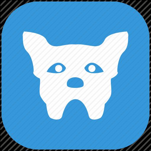 Animal, Bulldog, Dog, Head Icon