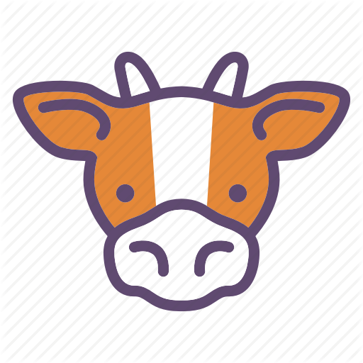 Animal, Cattle, Cow, Farm, Head Icon