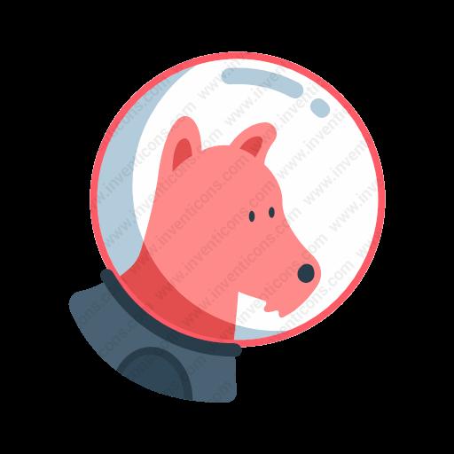 Download Space,dog Icon Inventicons