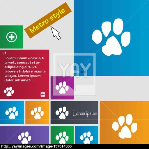 Trace Dogs Icon Sign Buttons Modern Interface Website Buttons