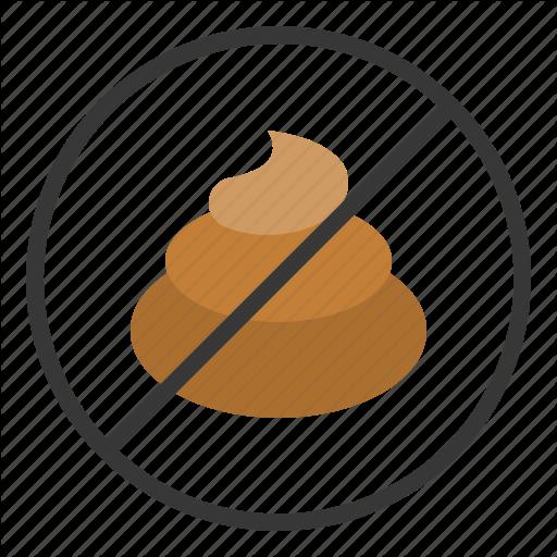Dog, No Dog Poop, No Poop, Poo Icon