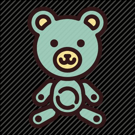 Animal, Bear, Childhood, Cute, Doll, Teddy, Toy Icon