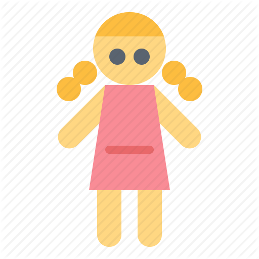 Baby, Doll, Girl, Kid, Toy Icon