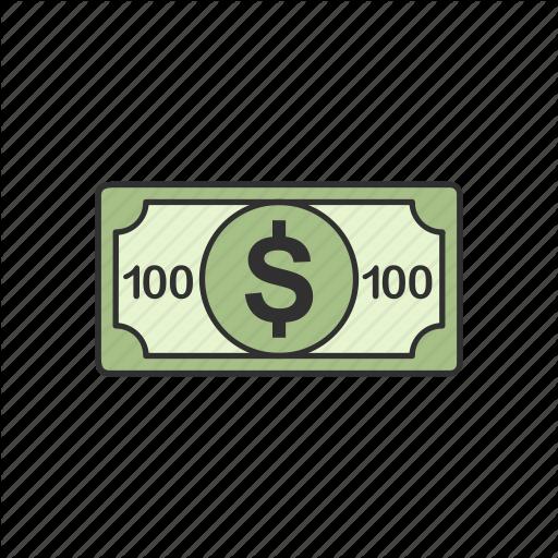 Bill, Dollar, One Hundred, One Hundred Dollars Icon