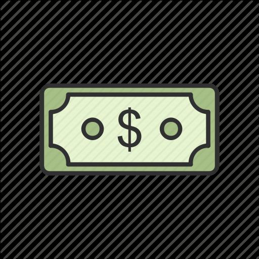 Cash, Currency, Dollar, Dollar Bill Icon