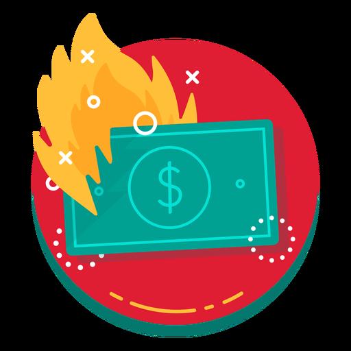 Dollar Bill Burn Rate Icon
