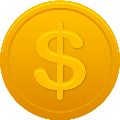 Coin Us Dollar Icon Pretty Office Iconset Custom Icon Design