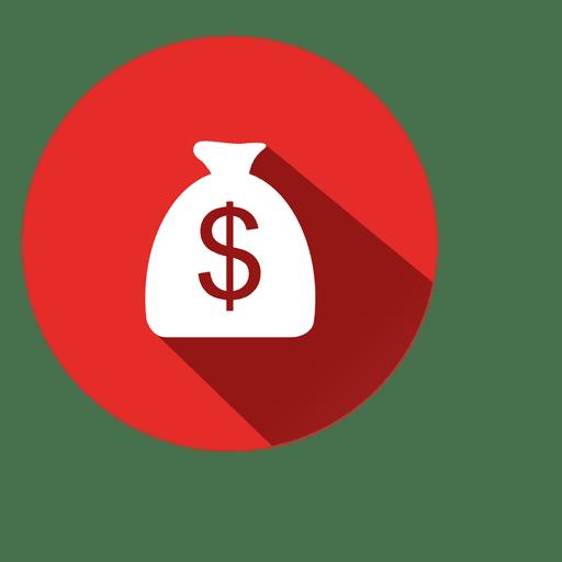 Dollar Bag Circle Icon