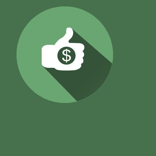 Thumb Dollar Circle Icon