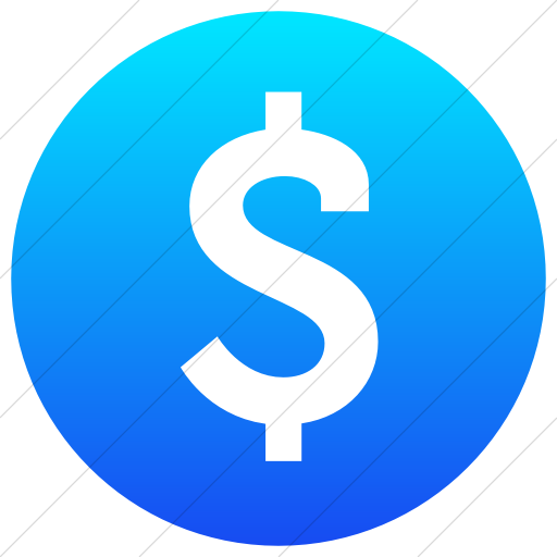 Simple Ios Blue Gradient Raphael Dollar Sign Icon
