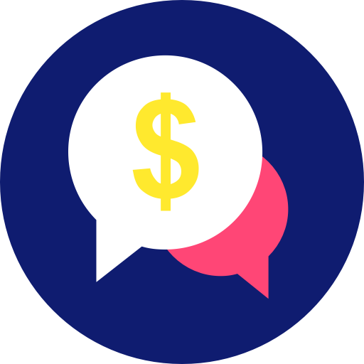Bubble, Chat, Dollar, Sign Icon Icon