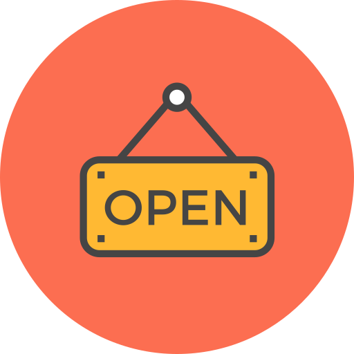 Sign, Open Icon Free Of Flat Line Ecommerce