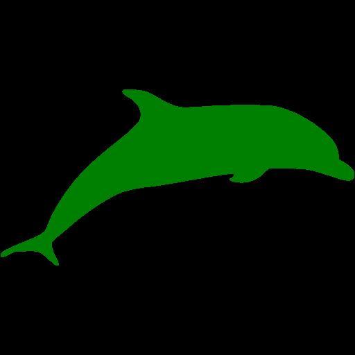 Green Dolphin Icon