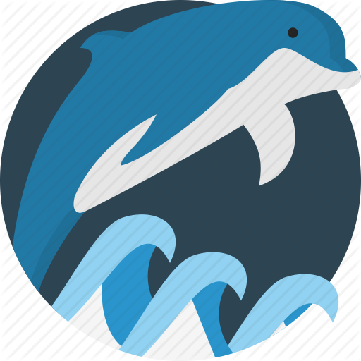Animal, Dolphin, Sea Icon