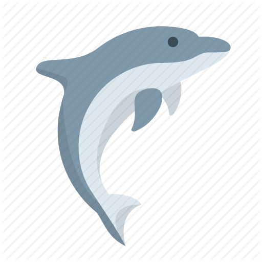 Dolphin, Fish, Marine, Nautical, Ocean, Whale, Wildlife Icon
