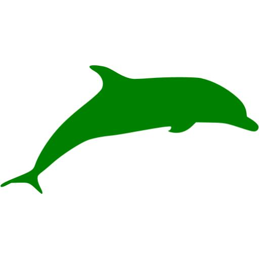 Green Dolphin Icon