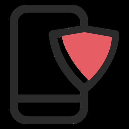 Smartphone Security Colored Stroke Icon