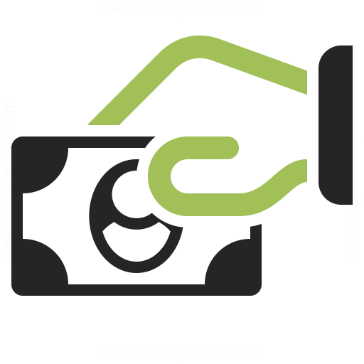 Hand Money Icon Iconexperience