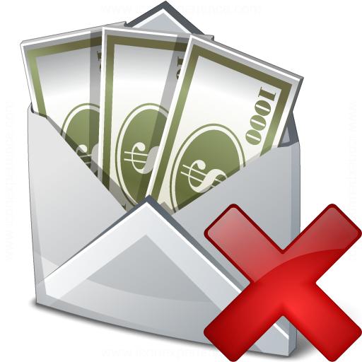 Iconexperience V Collection Money Envelope Delete Icon