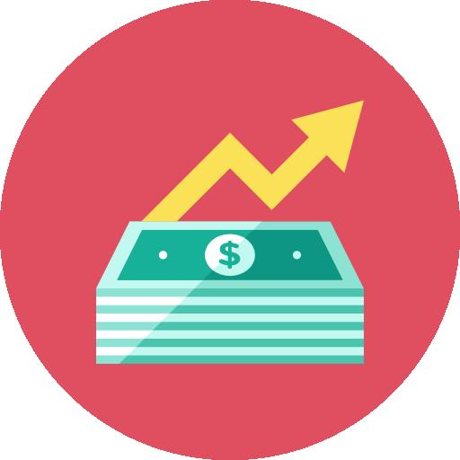 Money Increase Icon Kameleon Iconset Webalys