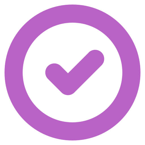 Done, Circle, Symbol, Downloaded Icon Free Of Bold Purple Free