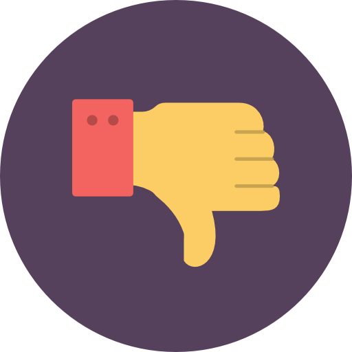 Thumb, Down, Dont, Like Icon Free Of Flat Retro Communications Icons