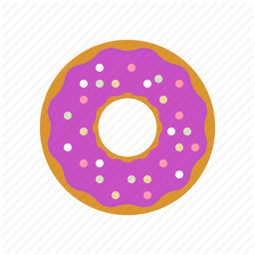 Bakery, Baking, Donut, Donuts, Eating, Purple, Purple Donut Icon