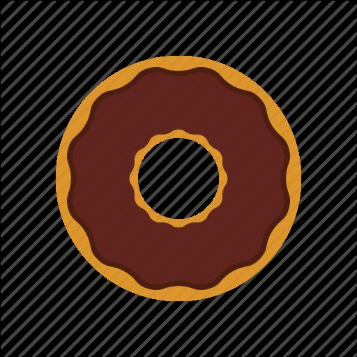 Breakfast, Chocolate, Chocolate Donut, Donut, Eating Icon