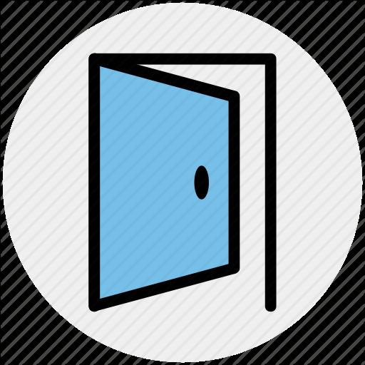 Door, Enter Door, Exit Door, Gate, Open, Open Door Icon