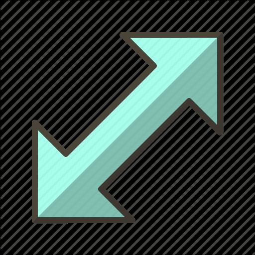 Arrow, Basic Elements, Direction, Double Arrow, Move Icon