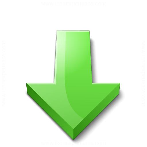 Iconexperience V Collection Arrow Down Green Icon