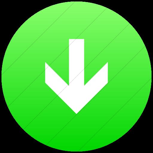 Flat Circle White On Ios Neon Green Gradient Aiga Down
