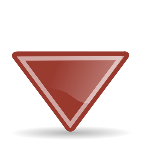 Small Triangular Down Arrow Icon Download Free Icons