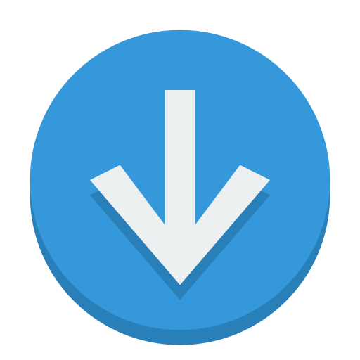 Sign Down Icon Small Flat Iconset Paomedia