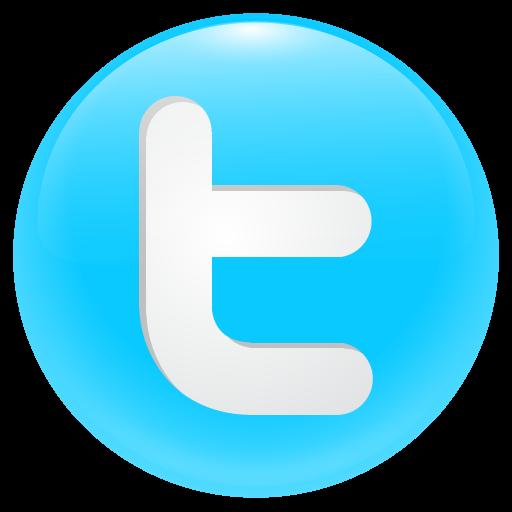 Twitter Round Button Icon