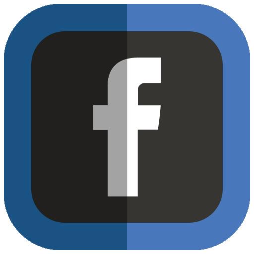 Facebook Icon Folded Social Media Iconset Uiconstock
