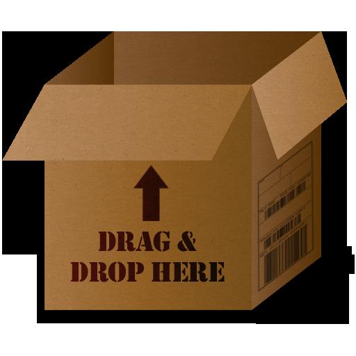 Box Drag And Drop Icon