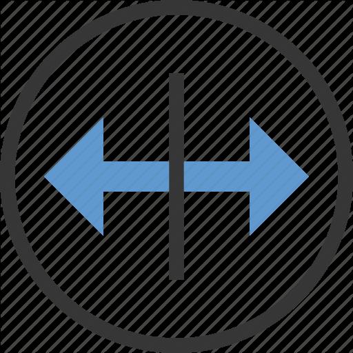 Arrow, Circle, Drag, Horizontal, Move Icon