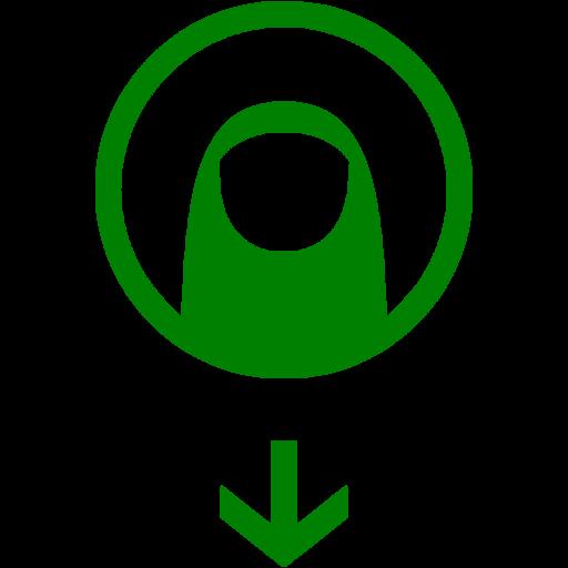 Green Drag Down Icon