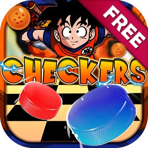 Checkers Board Anime Puzzle Dragon Ball