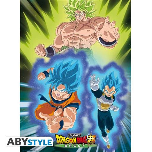 Poster Dragon Ball Super Broly Vs Goku Vegeta X Cm