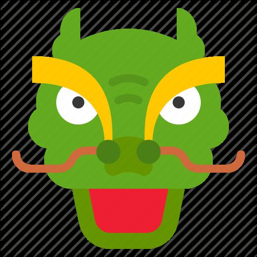 China, Chinese, Dragon, Dragon Dance, Face, Head Icon