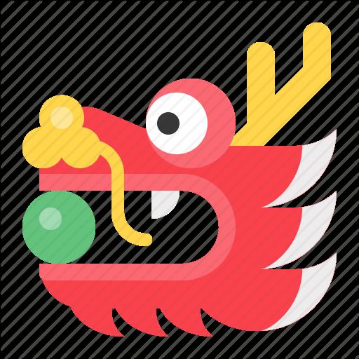 Chinese, Cny, Dragon, Dragon Head, New Year Icon