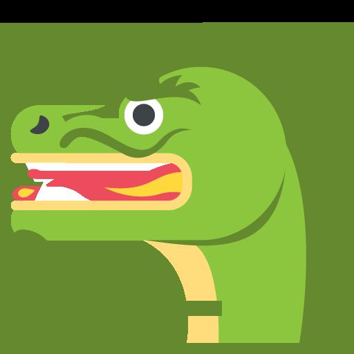 Dragon Face Emoji Vector Icon Free Download Vector Logos Art