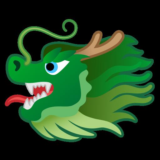 Dragon Face Icon Noto Emoji Animals Nature Iconset Google