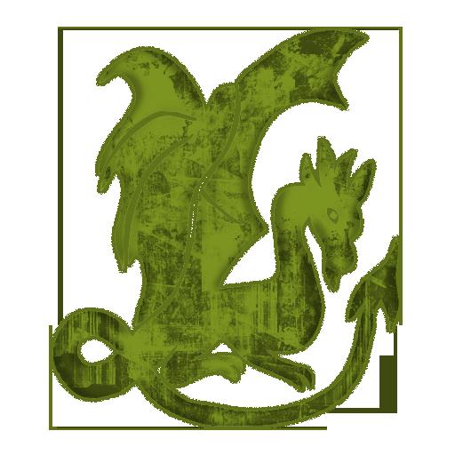 Green Gothic Dragon Icon