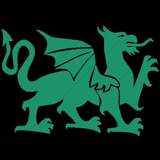 Simple Aqua Animals Dragon Icon